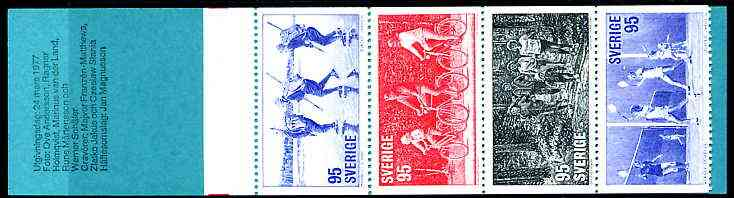 Booklet - Sweden 1977 Keep Fit Activities 9k50 booklet complete and pristine, SG SB317