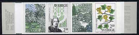 Booklet - Sweden 1987 Swedish Botanical Garden 16k80 booklet complete and pristine, SG SB402