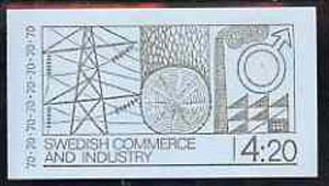 Booklet - Sweden 1970 Swedish Trade & Industry 4k20 booklet (in English) complete and pristine, SG SB249