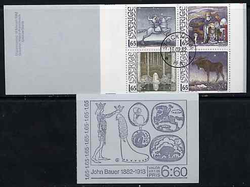 Booklet - Sweden 1982 John Bauer (Fairy Tale Illustrator) 6k60 booklet complete with cds cancels, SG SB356