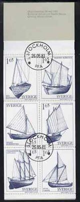 Booklet - Sweden 1981 Provincial Sailing Ships 9k90 booklet complete with cds cancels, SG SB352