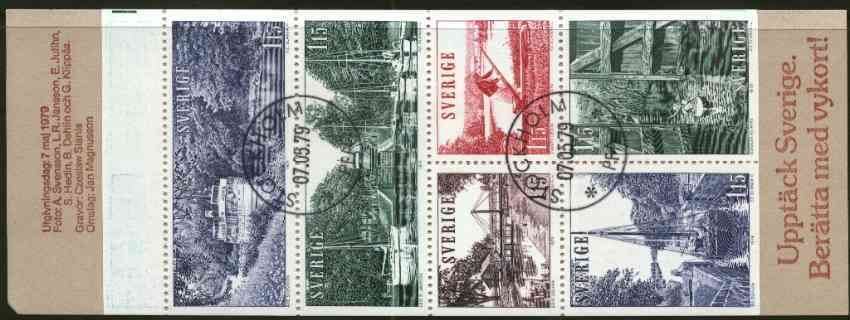 Booklet - Sweden 1979 Tourism - G\9Ata Canal 6k90 booklet complete with first day cancels, SG SB335