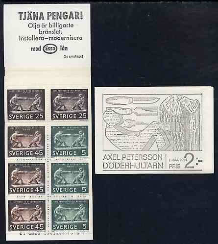 Booklet - Sweden 1968 Birth Centenary of Axel Petersson 2k booklet complete and very fine, SG SB226