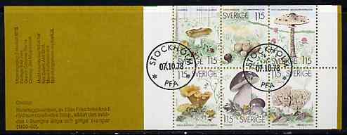 Booklet - Sweden 1978 Edible Mushrooms 6k90 booklet complete with first day cancels, SG SB330