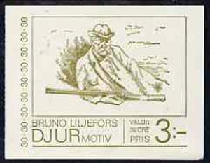 Booklet - Sweden 1968 Bruno Liljjefor's Fauna Sketches 3k booklet complete and very fine, SG SB227