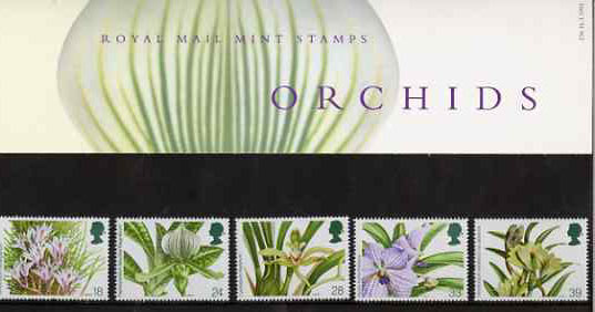 Great Britain 1993 World Orchid Conference set of 5 in official presentation pack SG 1659-63