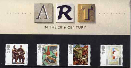 Great Britain 1993 Europa - Contemporary Art set of 4 in official presentation pack SG 1767-70