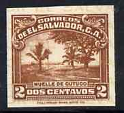 El Salvador 1935 Cutuco Harbour 2c brown unmounted mint imperf as SG 864