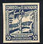 El Salvador 1935 Balsam Tree 50c dull blue unmounted mint imperf as SG 870