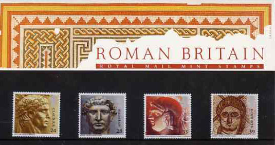 Great Britain 1993 Roman Britain set of 4 in official presentation pack SG 1771-74