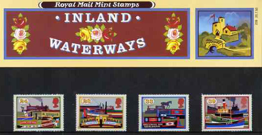 Great Britain 1993 Inland Waterways set of 4 in official presentation pack SG 1775-78