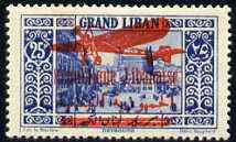 Lebanon 1929 Air 25p bright blue very fine mounted mint, SG 156 (expertized on reverse)
