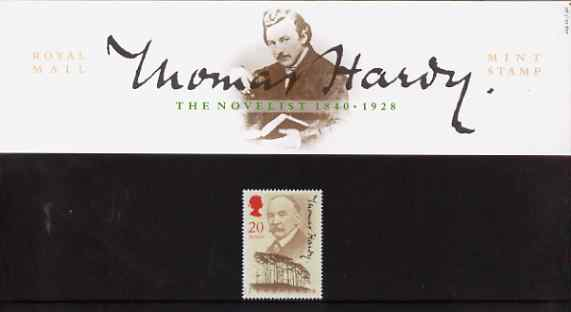 Great Britain 1990 Thomas Hardy 150th Birth Anniversary (Author) in official presentation pack, SG1506