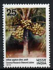 India 1976 Diamond Jubilee of Coconut Research unmounted mint, SG 835*