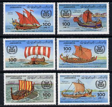 Libya 1983 Maritime Organization (Ships) set of 6 unmounted mint SG 1303-08
