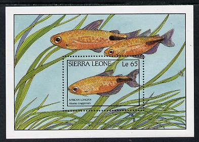 Sierra Leone 1988 Fishes m/sheet 65L, SG MS 1130 unmounted mint