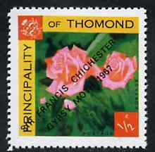 Thomond 1967 Roses 1/2p (Diamond shaped) with 'Sir Francis Chichester, Gypsy Moth 1967' overprint unmounted mint