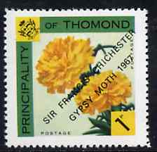 Thomond 1967 Carnation 1d (Diamond-shaped) with 'Sir Francis Chichester, Gypsy Moth 1967' overprint unmounted mint