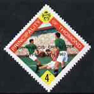 Thomond 1967 Football 4d (Diamond shaped) with 'Sir Francis Chichester, Gypsy Moth 1967' overprint unmounted mint