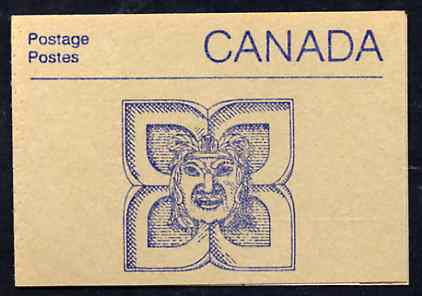Booklet - Canada 1988 Architectural features 50c booklet (Indian Mask Sculpture) SG SB108d