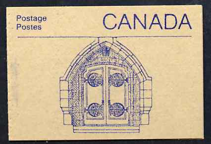 Booklet - Canada 1988 Architectural features 50c booklet (Door to House of Commons) SG SB108f