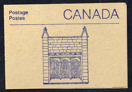 Booklet - Canada 1988 Architectural features 50c booklet (Window at Centre Block) SG SB108i