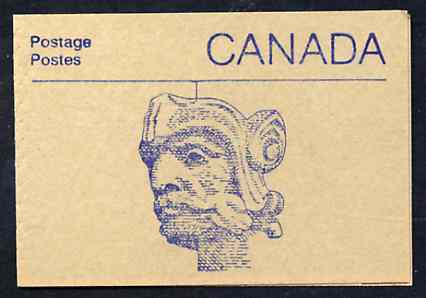Booklet - Canada 1988 Architectural features 50c booklet (Carved Head) SG SB108h