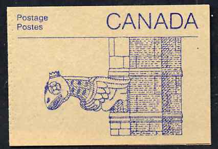 Booklet - Canada 1988 Architectural features 50c booklet (Gargoyle) SG SB108c