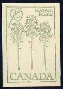 Booklet - Canada 1978 Flowers & Trees - Trembling Aspen 50c booklet (green on crean cover) complete and pristine, SG SB 84g