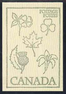 Booklet - Canada 1978 Flowers & Trees - Heraldic Symbols from the Plant World (Rose, Thistle, Shamrock, Lily & Maple) 50c booklet (green on crean cover) complete and pristine, SG SB 84i