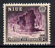 Niue 1950 Cave at Makefu 1s from def set unmounted mint, SG 120