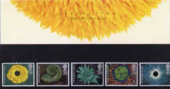 Great Britain 1995 The Four Seasons - Springtime set of 5 in official presentation pack SG 1853-57