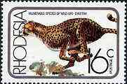 Rhodesia 1976 Cheetah 16c from Vulnerable Wildlife set unmounted mint, SG 532*