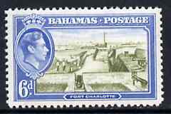 Bahamas 1938 Fort Charlotte 6d KG6 unmounted mint, SG 159, stamps on forts, stamps on  kg6 , stamps on
