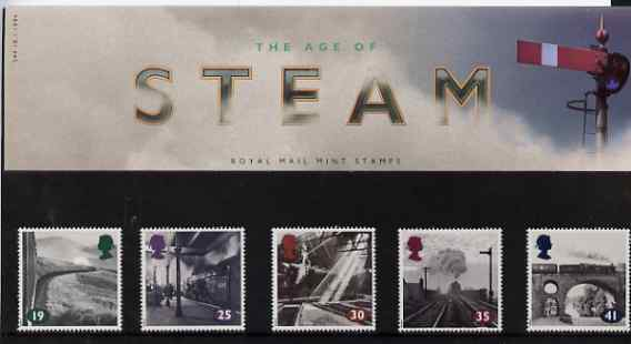 Great Britain 1994 The Age of Steam (Photographs by Colin Gifford) set of 5 in official presentation pack, SG 1795-99