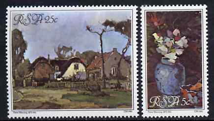 South Africa 1980 Paintings by Pieter Wenning set of 2 unmounted mint, SG 474-75*
