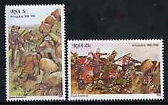 South Africa 1981 Centenary of Battle of Amajuba set of 2 unmounted mint, SG 488-89