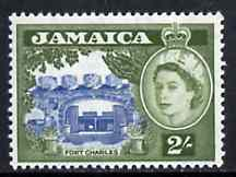Jamaica 1956 Fort Charles 2s blue & bronze-green from def set unmounted mint, SG 170*