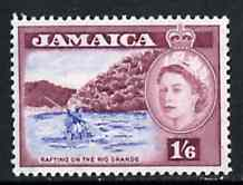 Jamaica 1956 Rafting on the Rio Grande 1s6d from def set unmounted mint, SG 169**