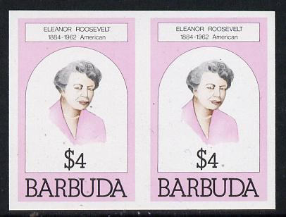 Barbuda 1981 Eleanor Roosevelt $4 unmounted mint imperforate pair (as SG 549)
