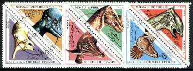 Somalia 1997 Prehistoric Animals complete triangular set of 6 cto used*