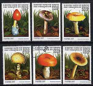 Benin 1997 Mushrooms complete perf set of 6 cto used. SG 1684-89*