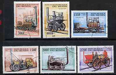 Benin 1997 Early Steam Engines complete perf set of 6 cto used, SG 1691-96