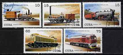 Cuba 1977 Locomotives complete perf set of 5 cto used*