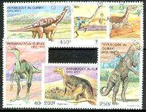 Guinea - Conakry 1997 Prehistoric Animals complete perf set of 6 cto used*