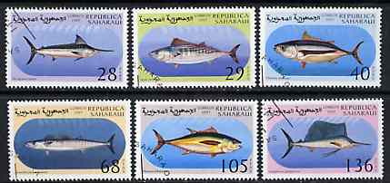 Sahara Republic 1997 Fish complete perf set of 6 cto used*