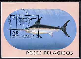 Sahara Republic 1997 Fish perf miniature sheet cto used