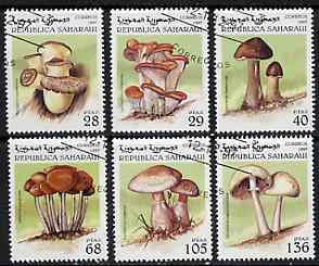 Sahara Republic 1997 Mushrooms complete perf set of 6 cto used*
