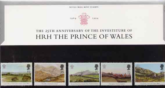 Great Britain 1994 Paintings by Prince Charles set of 5 in official presentation pack SG 1810-14