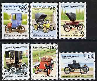 Sahara Republic 1997 Vintage Cars complete perf set of 6 cto used